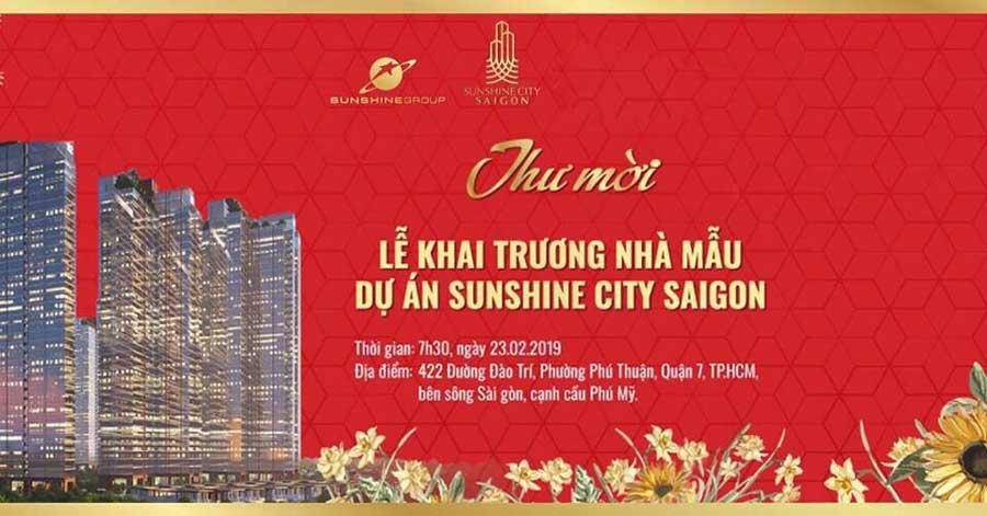 khai trương nhà mẫu Sunshine City Sài Gòn