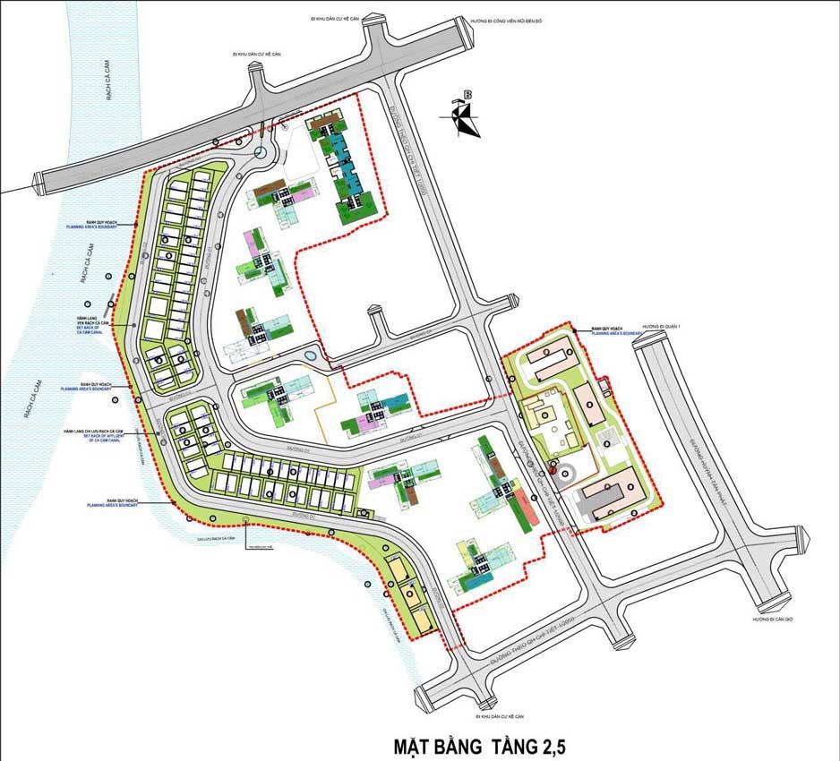 Mặt bằng tầng 2- 5 dự án Sunshine City