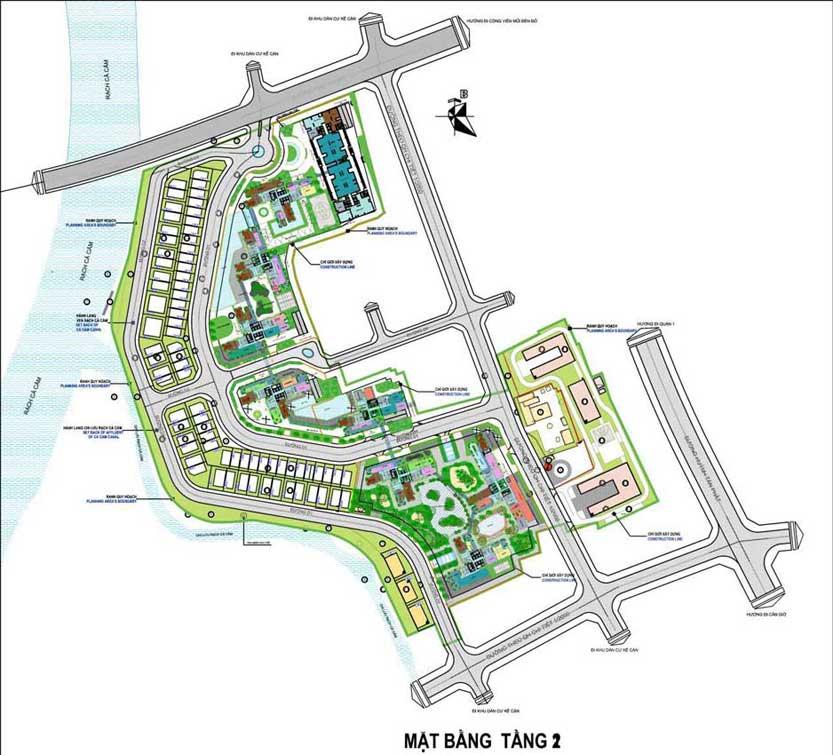 Mặt bằng tầng 2 dự án Sunshine City