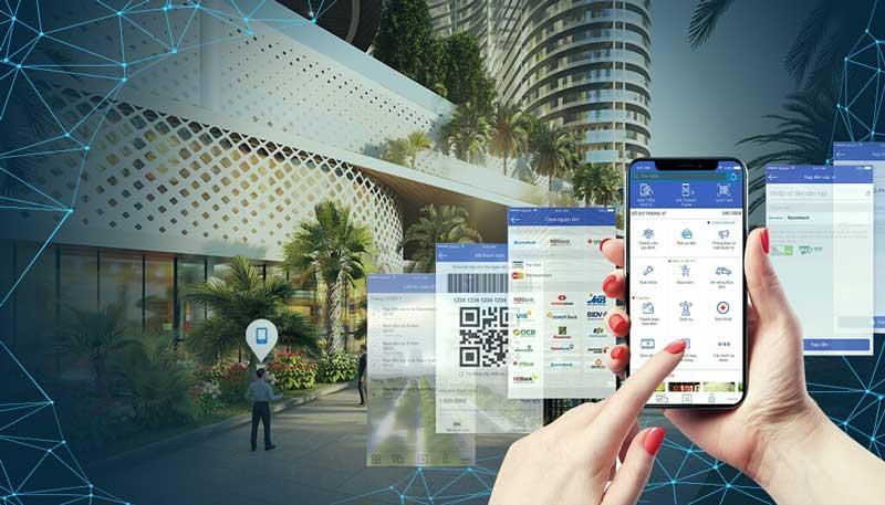 Sunshine Diamond River được Sunshine Homes áp dụng các tiến bộ công nghệ vòa cuộc sống của cư dân bằng các app thông minh