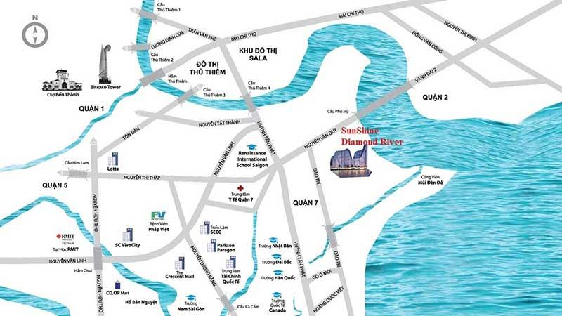 Nhờ vị trí tọa lạc mà dự án Sunshine Diamond River có khả năng liên kết vùng hoàn hảo