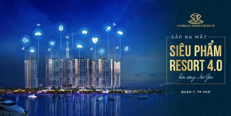 Tháng 8/2019 siêu phẩm Resort 4.0 Quận 7 TP HCM chính thức ra mắt mang tên Sunshine Diamond River