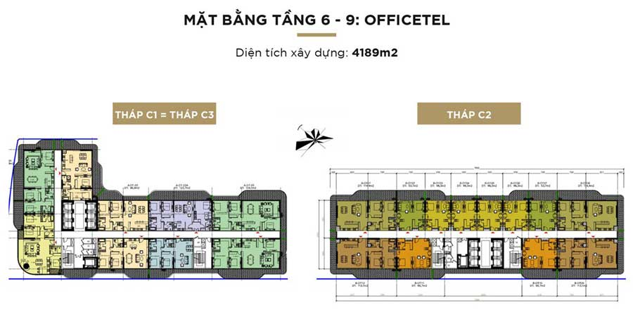 OFFICTEL TẦNG 6 - 9